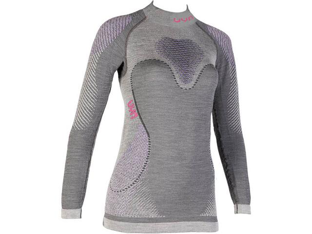 UYN Fusyon UW LS Turtleneck Shirt Women Anthracite Purple Pink ... 34316307dd6